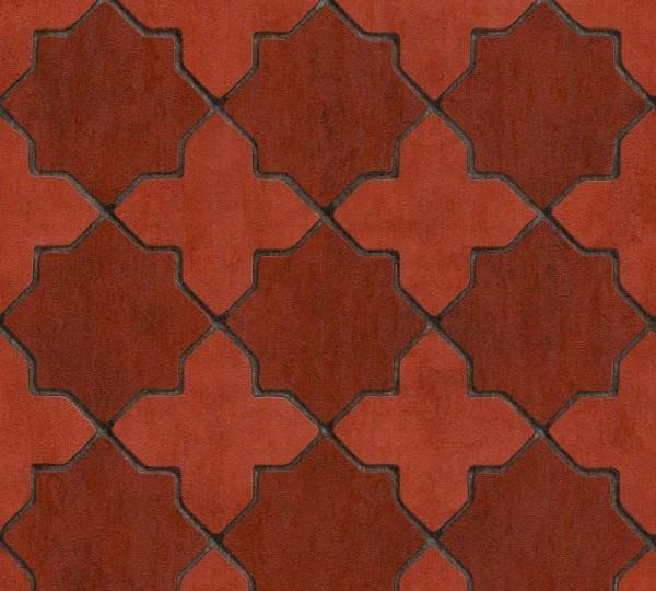Livingwalls Vliestapete New Walls, Finca Living Stern Fliese Rot 374211