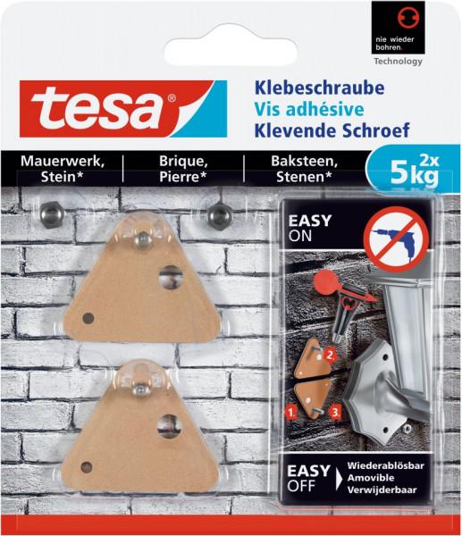 tesa® Klebeschraube dreieckig, Mauerwerk, 2 x 5 kg